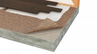 Izolatie termica si fonica din pluta aglomerata pentru parchet lipit din lemn - Izolatie din pluta aglomerata pentru pardoseli incalzite Acousticork