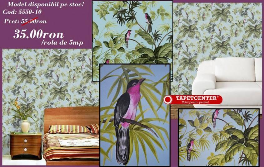 Tapet floral 5550-10 - Promotie - Promotiile continua si in aceasta luna la TAPETCENTER!
