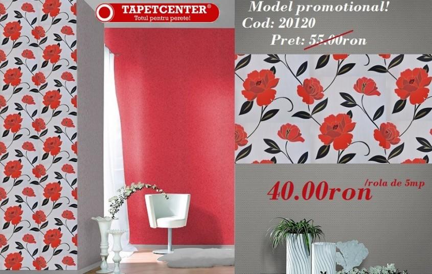Tapet floral 20120 - Promotie - Promotiile continua si in aceasta luna la TAPETCENTER!