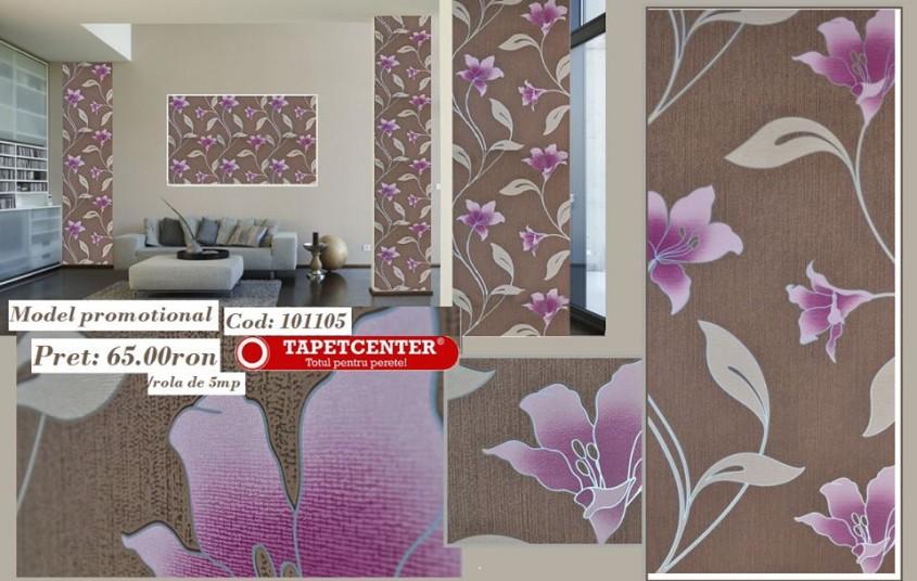 Tapet floral 101105 - Promotie - Promotiile continua si in aceasta luna la TAPETCENTER!