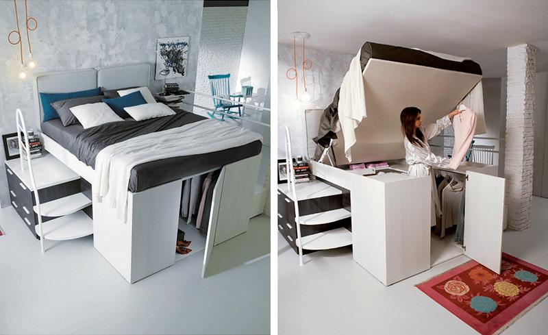 Solutii de paturi adaptate pentru camere mici - Solutii de paturi adaptate pentru camere mici