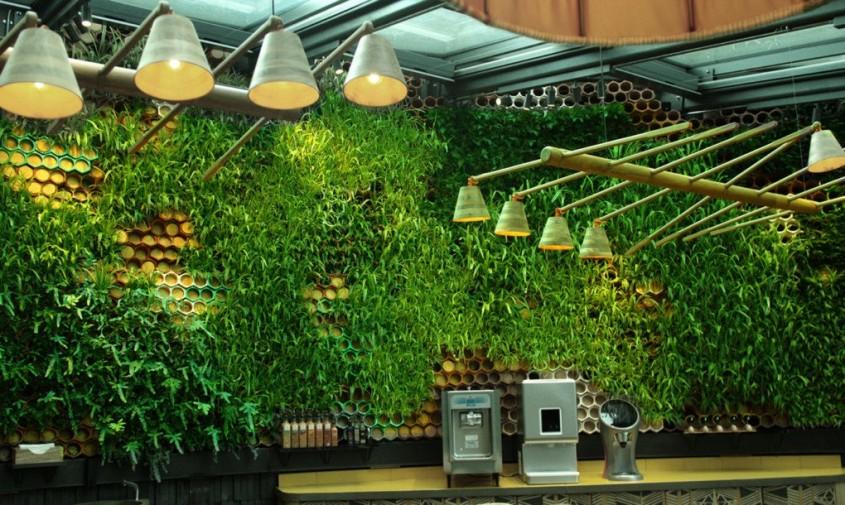 Peretele unui restaurant din Londra purifică aerul și atenuează zgomotul din interior - Peretele unui restaurant