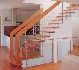 Scara din lemn dreapta sau balansata - INOX Design - Scari din lemn drepte sau balansate - ESTFELLER