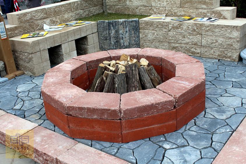 Focar de foc - Idei de amenajare a curtii si gradinii cu blocuri din beton