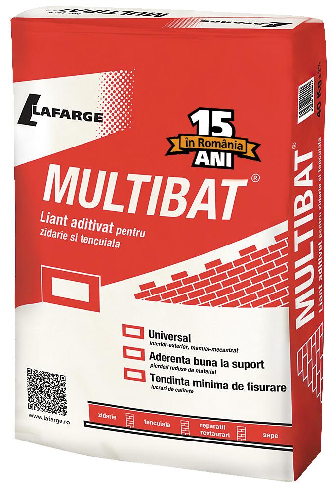 Multibat - Liant aditivat pentru tencuiala si zidarie - Multibat Liantul aditivat pentru tencuiala si zidarie