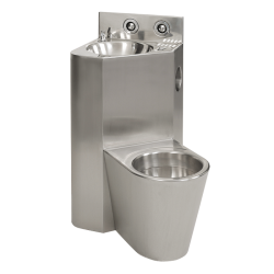 Combinatie de lavoar si vas WC din otel inox - SLWN 08ZL - Unitati combinate din otel inox