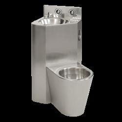 Combinatie de lavoar si vas WC din otel inox - SLWN 18L - Unitati combinate din otel inox