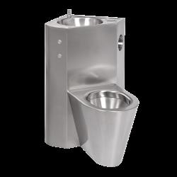 Combinatie de lavoar si vas WC din otel inox cu butoane piezo SLWN 18LP - Unitati combinate din otel inox