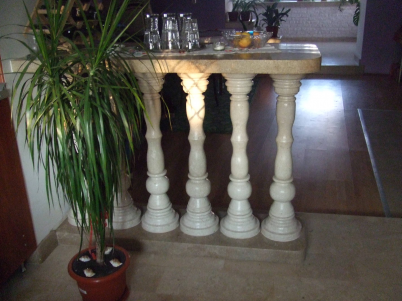 Balustrade - Utilizari ale pietrei naturale de Vistea si pietrei naturale Transilvania Gold