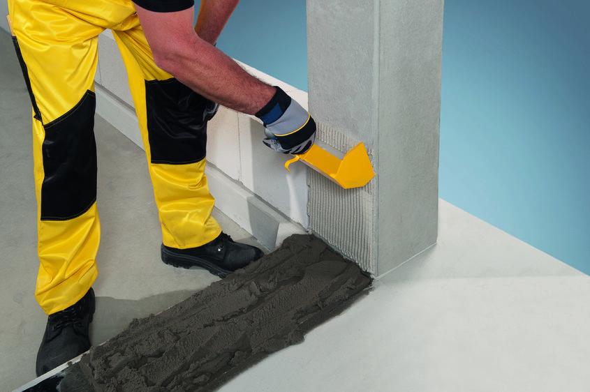 Montarea primului rand de zidarie Ytong - Montarea primului rand de zidarie Ytong