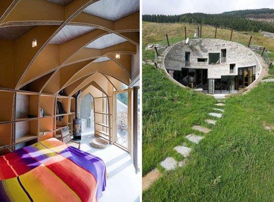 O vila din Elvetia ascunsa in versantul unui munte - O vila din Elvetia ascunsa in