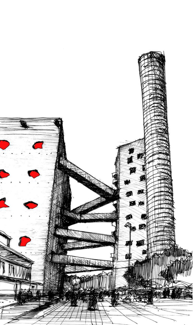 Crochiu de Lina Bo Bardi pentru Fabricio Contreras Ansbergs SESC Pompeia - Desenul arhitectural sau arta