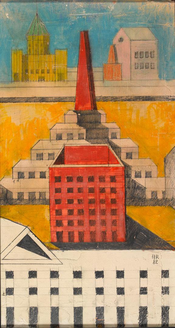 Aldo Rossi, prespectiva pentru Teatro del Mondo, Venetia - Desenul arhitectural sau arta desenului tehnic