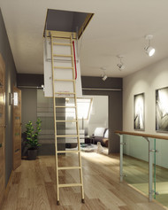 Scara modulara din lemn de pin - LWK Plus - Scari de acces la pod modulare din lemn