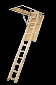 Scara modulara din lemn de pin - LWS Plus - Scari de acces la pod modulare din lemn