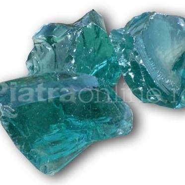 Bolovani Glass Deco - Cinci ornamente din piatra naturala pentru gradina