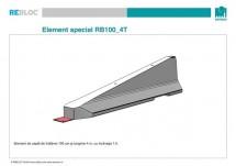 Element de capat RB100_4T - Grupa de produse REBLOC RB100 (inaltime 100 cm)