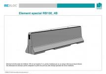 Element special RB100_4B - Grupa de produse REBLOC RB100 (inaltime 100 cm)