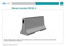 Element standard RB100_2 - Grupa de produse REBLOC RB100 (inaltime 100 cm)