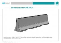 Element standard RB100_4 - Grupa de produse REBLOC RB100 (inaltime 100 cm)
