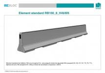 Element standard RB100_8_H4bW6 - Grupa de produse REBLOC RB100 (inaltime 100 cm)