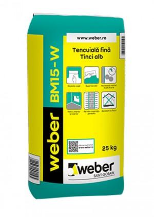 Tencuiala fina/Tinci alb weber BM15-W - Tencuieli de baza