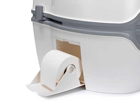 PORTA POTTI EXCELLENCE - suport integrat pentru hartie igienica - Cum functioneaza toaleta Porta Potti Qube?