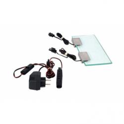 Set 2x0.2W Clips LED alb lumina rece 10V + transformator ZOL1 + rigleta 6p - Iluminat iluminat led