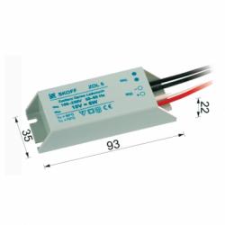 Transformator ZOL6, max 6W, 230V-10V, protectie scurtcircuit si suprasarcina, ermetic, clasa protectie 2 - Iluminat iluminat led