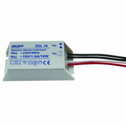 Transformator ZOL16, max 16W, 230V-10V, protectie scurtcircuit si suprasarcina, ermetic, clasa protectie 2 - Iluminat iluminat led