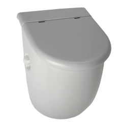 Pisoar Casa cu unitate de spalare cu senzor radar, cu capac - SLP 33RB - Unitati de spalare automate cu senzor radar pentru pisoare
