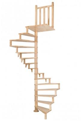 Scara pe structura din lemn Squareluxe - Gama de scari SPIRALE
