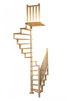 Scara pe structura din lemn Squarewood - Gama de scari SPIRALE