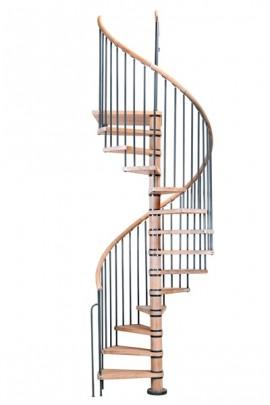 Scara pe structura din lemn Columbia - Gama de scari SPIRALE