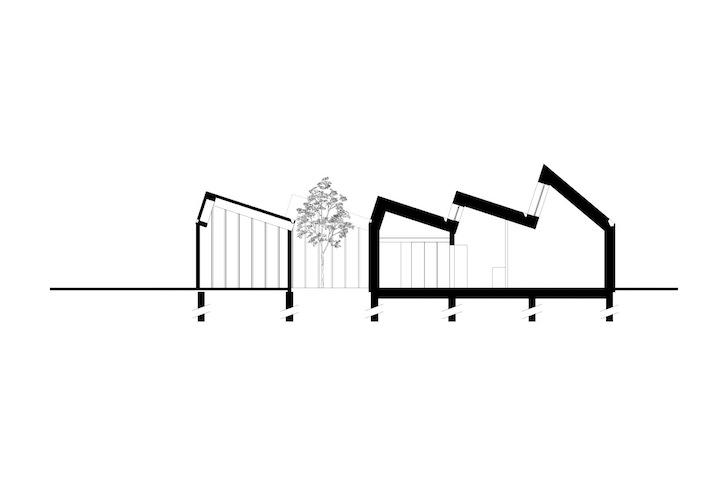 Casa pasiva foloseste energia soarelui ce strabate prin acoperisul in zig-zag - Casa pasiva - schite