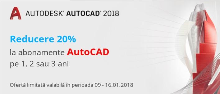 Reducere 20% la abonamente AutoCAD pe 1 2 si 3 ani - Reducere 20% la abonamente