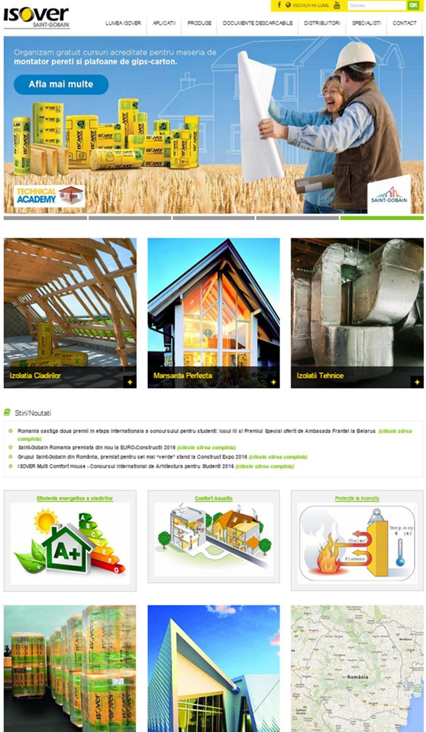 Noul site Isover Romania - Noul site Isover Romania