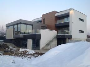 Casa V, lac Baneasa, Bucuresti - Placi din fibrociment pentru placari fatade ventilate
