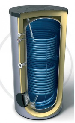 Boiler de sol cu 2 serpentine fixe - Boilere pentru apa calda