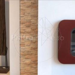 Marmura Rodon Wave 5 x 20cm - Piatra naturala decorativa marmura rondon
