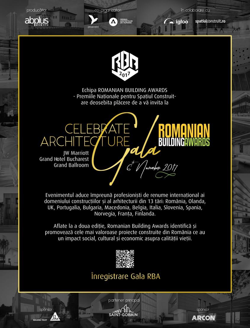 6 noiembrie JW Marriott Grand Hotel București – Finala RBA 2017 urmată de Gala de premiere