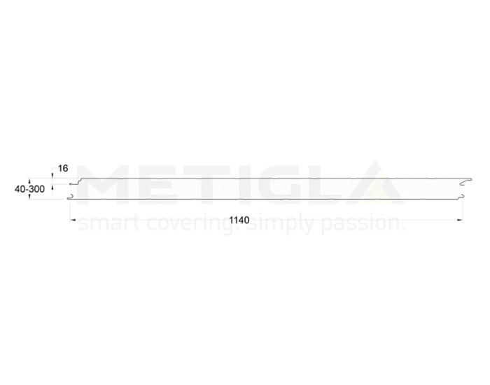Panouri termoizolante EPS - profil perete cu prindere invizibila - Variante EPS