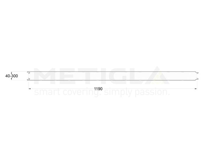 Panouri termoizolante EPS - profil perete cu prindere vizibila - Variante EPS