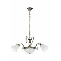 Clotilde Lustra 5x60W, E27,  metal-sticla - Iluminat corpuri de iluminat