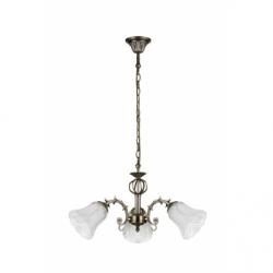 Clotilde Lustra 3x60W, E27, metal-sticla - Iluminat corpuri de iluminat
