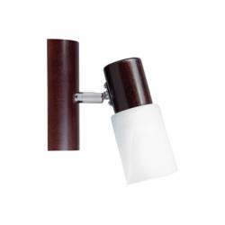 Aplica KIRA WOOD 1X40W , E14, lemn-metal-sticla - Iluminat corpuri de iluminat