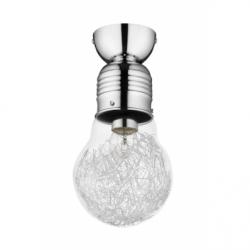 Bulb Plafoniera 1x60W, E27, sticla-metal, chrom - Iluminat corpuri de iluminat