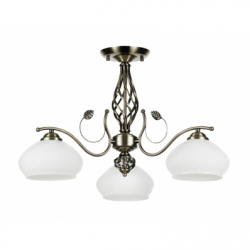 Trila Lustra 3x60W, E27, metal-sticla - Iluminat corpuri de iluminat