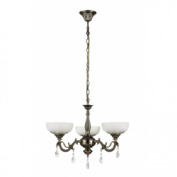 Graciela Lustra 3x60W, E27, metal-sticla - Iluminat corpuri de iluminat