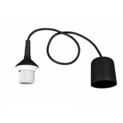 Cablu suspensie lustra negru plastic, E27, IP20 - Iluminat corpuri de iluminat